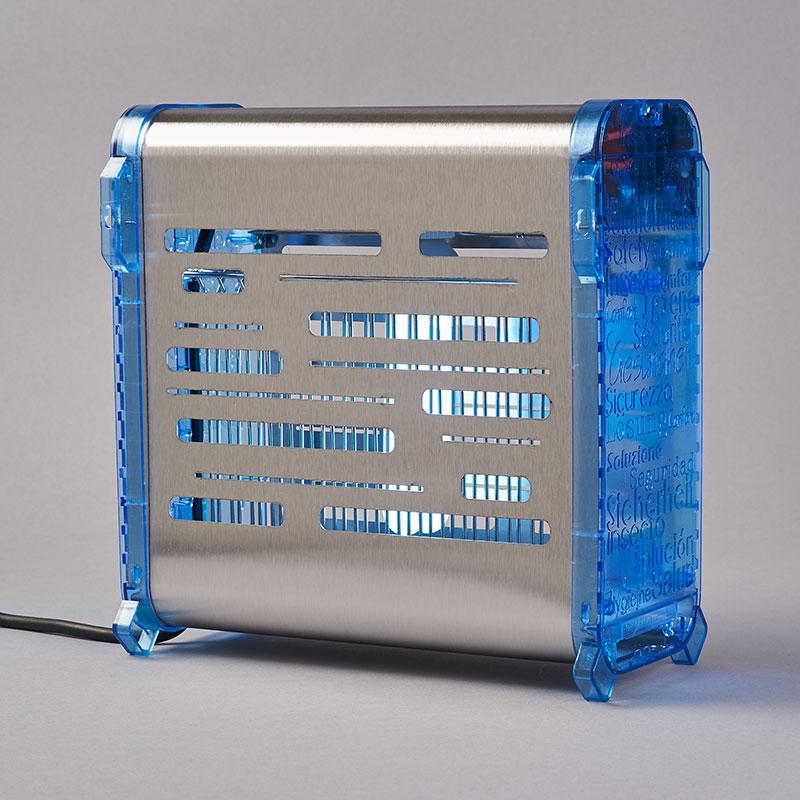 Bactinet Destructeur D'insectes FLYinBOX COLOR 40 Laqué Blanc Bleu
