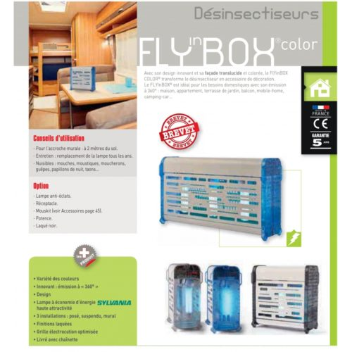 Bactinet Destructeur D Insectes Flyinbox Color 20 Laque Blanc Bleu 3 1