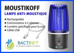 Bactinet Lampe Anti Moustique Bleue Bactinet Moustikoff 2 748
